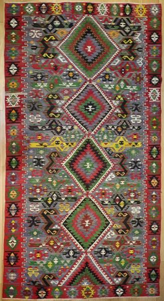 R8027 Turkish Kula Kilim Rug