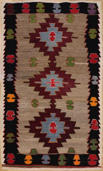 R4323 Turkish Old Mut Kilim  Rug