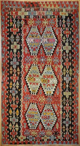 R7672 Turkish Vintage Kilim Rug
