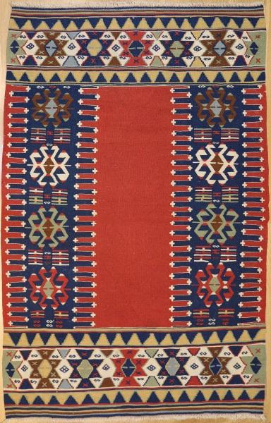 R7704 Turkish Vintage Konya Kilim Rug