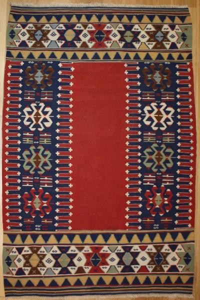 Turkish Vintage Konya Kilim Rug R7704