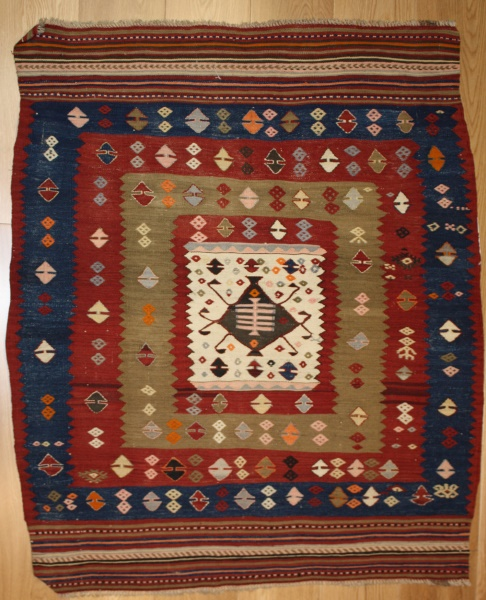Turkish Vintage Konya Kilim Rug At Rug Store