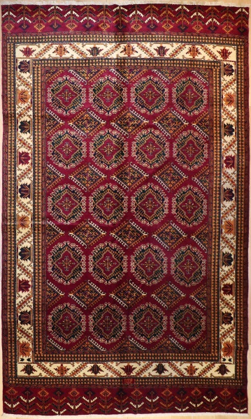 R5837 Turkoman Yomut Carpet