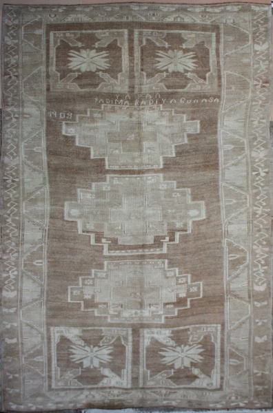 R4140 Antique Turkish Kars Carpet