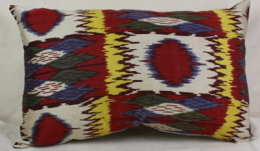 i47 Uzbek Ikat Cushion Covers for Sale