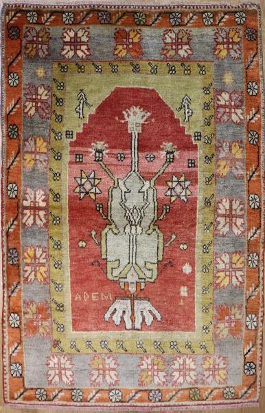 R3735 Vintage Anatolian Cal Rugs