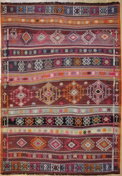R6514 Vintage Anatolian Cicim Rug