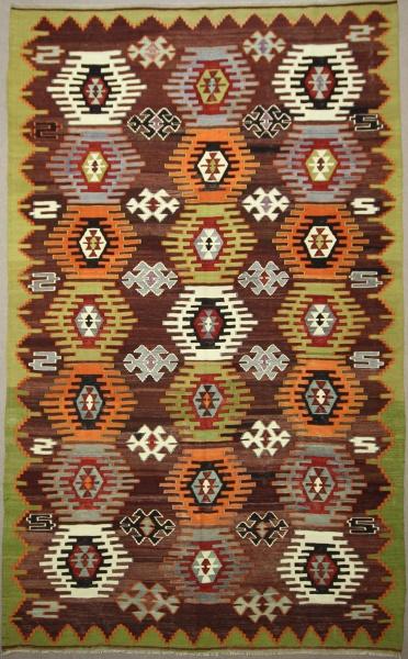 R7663 Vintage Anatolian Dazkiri Kilim