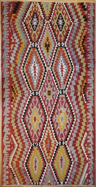 R7520 Vintage Anatolian Esme Kilim Rug