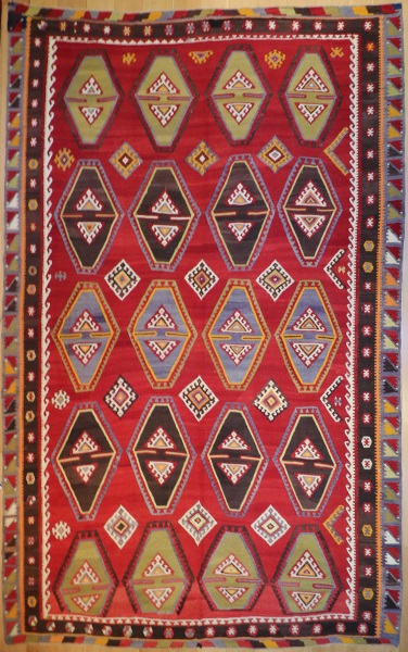R7854 Vintage Anatolian Kilim Rugs