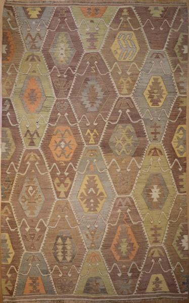 R6395 Vintage Antalya Turkish Kilim Rug