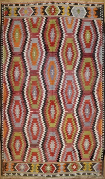 R6399 Vintage Antalya Turkish Kilim Rug