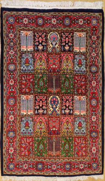 R9394 Vintage Bahktiari Persian Rug
