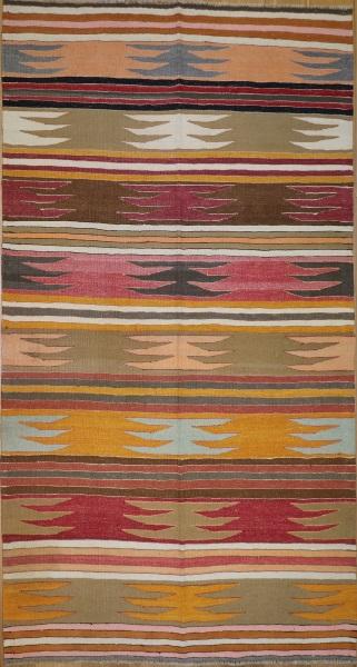 R8941 Vintage Bodrum Turkish Kilim Rug