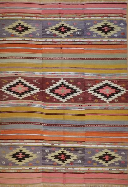 R7710 Vintage Cal Turkish Kilim Rug