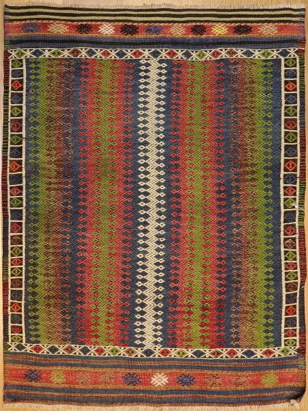 R6796 Vintage Cicim Turkish Rug