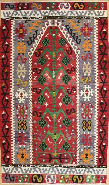 R7159 Vintage Esme Turkish Kilim Rug