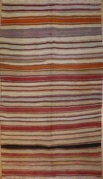 R6582 Vintage Fethiye Turkish Kilim Rug