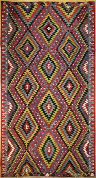 R8917 Vintage Flat Weave Kilim Rugs