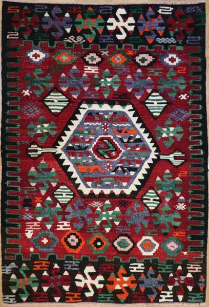 R8923 Vintage Flat Weave Kilim Rugs