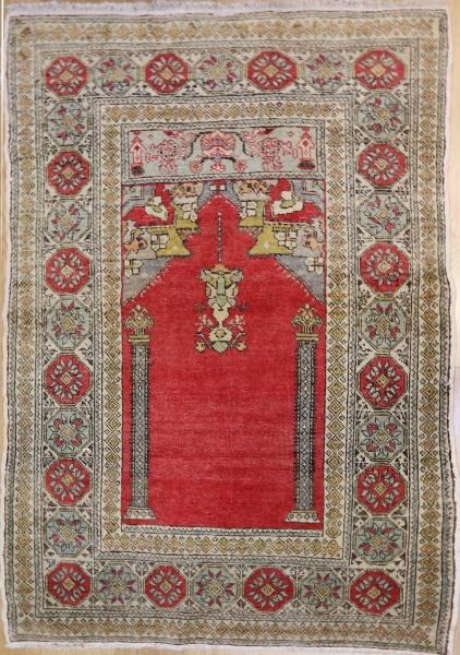 R1679 Vintage Gordes Turkish Rug