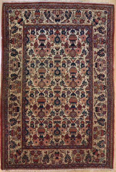 R7767 Vintage Handmade Antique Persian Kashan Rug