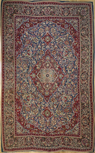 R9403 Vintage Indian Kashmir Embroidery Rug
