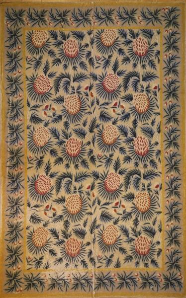 R7583 Vintage Indian Kashmir Embroidery Rug