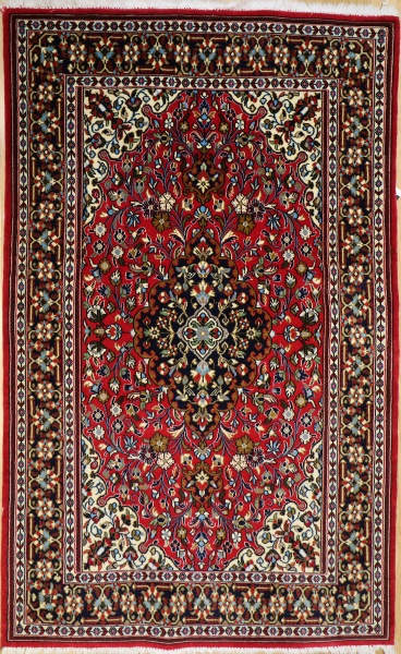 R9398 Vintage Kashan Persian Rug