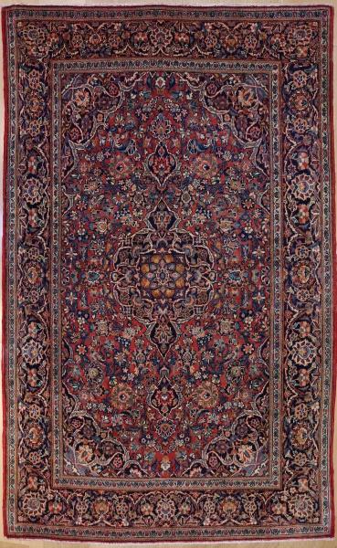 R7397 Vintage Kashan Persian Rug