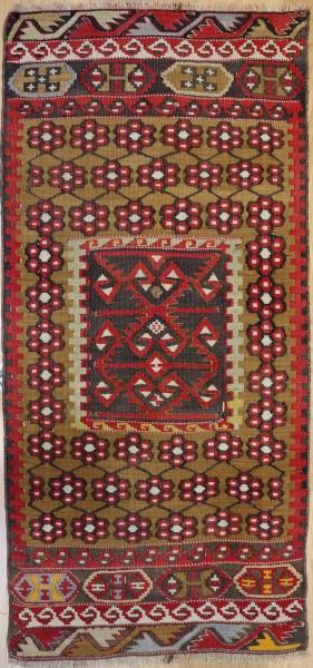 R6883 Vintage Kayseri Turkish Kilim Rug