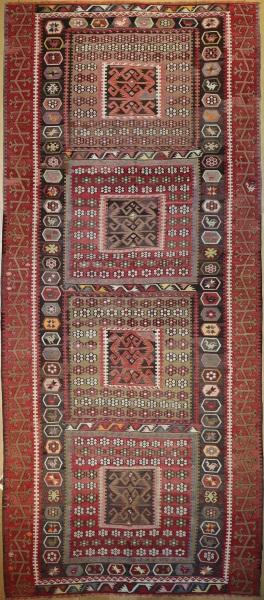 R6607 Vintage Kayseri Turkish Kilim Rugs