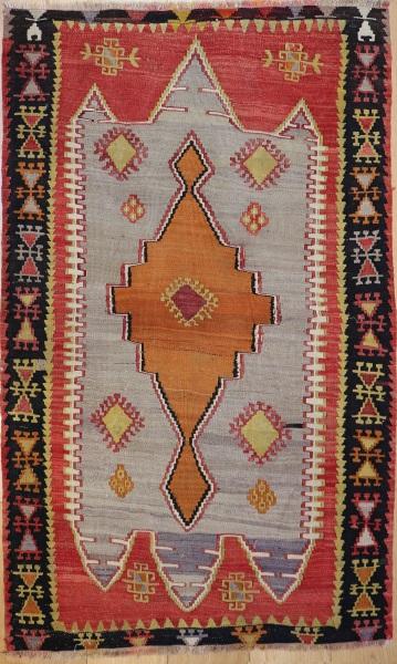 R6819 Vintage Kelim Rug
