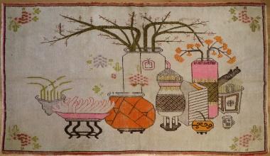 R9383 Vintage Khotan Carpet