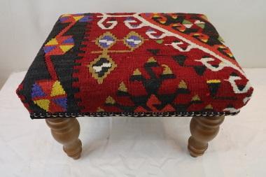 R7749 Vintage Kilim Covered Footstools