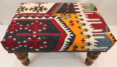 R6971 Vintage Kilim Footstool