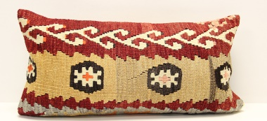 D107 Vintage Kilim Lumbar Pillow Cover