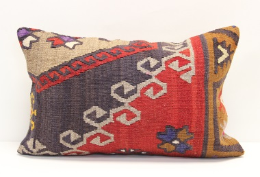 D211 Vintage Kilim Lumbar Pillow Cover