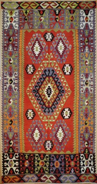 R8732 Vintage Kilim Rug