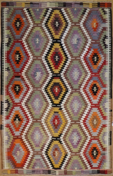 R8959 Vintage Kilim Rugs London