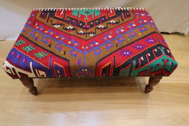R4718 Vintage Kilim Stool Table