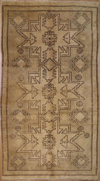 R6440 Vintage Konya Turkish Rug