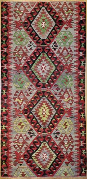 R7363 Vintage Kula Turkish Kilim Rug