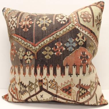 XL418 Vintage Large Kilim Cushion Covers