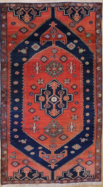 R1297 Vintage Malayer Persian Rug