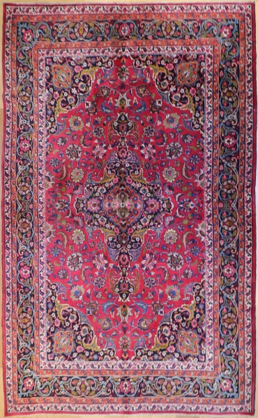 R5830 Vintage Mashhad Persian Carpet