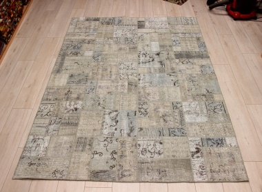 R8999 Vintage Overdyed Patchwork Rugs