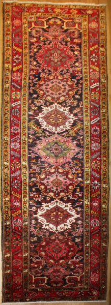 Vintage Persian Carpet Runner R8088