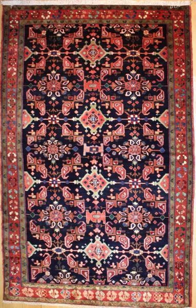 R8097 Vintage Persian Hamadan Carpet