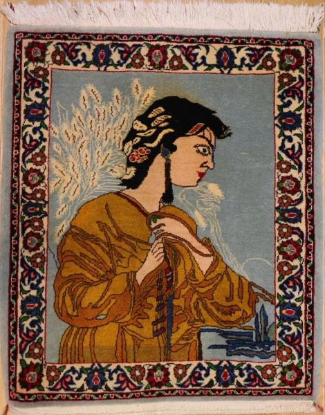 R7321 Vintage Persian Kashan Rugs